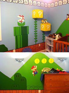 Design Dazzle Kids Video Game-Themed Rooms » Design Dazzle >> Mario room, Love the ? shelves>>