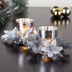 Our Christmas Votive Candle Holders will brighten up your decor this season. Christmas Candle Holders, Votive Candle Holders, Christmas Candles, Christmas Dining Table, Christmas Tabletop, Holiday Looks, Secret Santa, Merry And Bright, Xmas Decorations