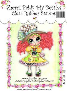 My-Besties Clear Rubber Stamp Big Eye Besties Big by SherriBaldy