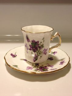 Hammersley England Victorian Violets Demi Cup and by Visualaromas