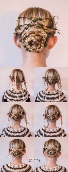 How-To Hair Girl | Urban Foraging for Winter Hairstyles: Tiny Empress Braids