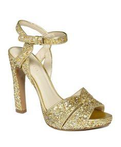 gold glitter heels on sale