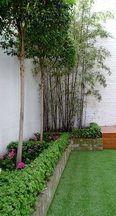 The Most Attracting & Stylish Modern Mini Garden Design Ideas Back Gardens, Outdoor Gardens, English Landscape Garden, London Garden, Small Backyard Landscaping, Landscaping Ideas, Modern Garden Design, Modern Design, Backyard Lighting