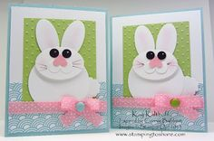 Stamping to Share: 3/12 Punch Art Easter Bunny and a Glue Dot Bow How To Video