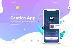 Behance Cantico IOS App designed by Dejan Baric for Star Studio. Ios App Design, Web Design, Mobile App Icon, Instagram Website, Music App, Mobile Learning, Jobs Apps, Website Design Inspiration, Graphic Design Posters