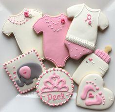 Girl Baby Cookies