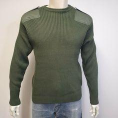 New Mens Superdry Unique Sample Orange Label Knit Grandad Size Large Green
