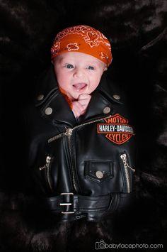 newborn photography Frederick MD * Harley Davidson
