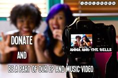 Be a part of Anna and the Bells first EP and music video! Check out the awesome video and perks LIke, share, donate and tell everyore!!!!  First 100 to donate get a anna and the bells sticker http://www.indiegogo.com/projects/be-a-part-of-anna-and-the-bells-first-ep-and-music-video/x/3419180#share — with Dan Zerin and 3 others.