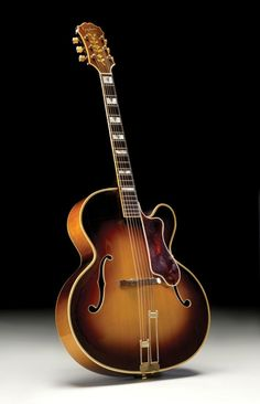 This 1951 Epiphone Emperor Regent is an ideal catalog example with all of the features one expects to find on a model. Jazz Guitar, Guitar Art, Cool Guitar, Epiphone Acoustic Guitar, Archtop Guitar, Bass Guitars, Ukulele, Black Dancers, Guitar For Beginners