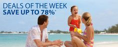 With savings of up to 78%, now is the time to book your vacation to fabulous destinations such as the Caribbean, Alaska, and Europe! http://www.cruiseshipcenters.com/en-US/helenfrankel/promotion/deals-of-the-week