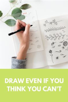 Think you can't draw but want to? Get creative in your bullet journal now using this gorgeous Floral Vine Stencil. Get yours here. #bulletjournal