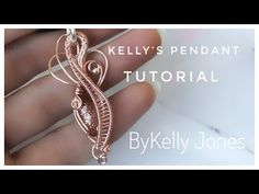 "Hello and welcome to my latest tutorial. This pendant was originally made to match the earrings tutorial I made called ""Kelly's Earrings Tutorial"" you can fi. Art Necklaces, Wire Necklace, Wire Wrapped Earrings, Wire Wrapped Pendant, Wire Bracelets, Wire Pendant, Wire Rings, Wire Tutorials, Jewelry Making Tutorials"