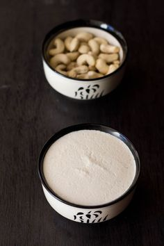how to make cashew yoghurt or cashew curd with step by step pics. cashew yogurt is made from cashews. there are 3 ways of making cashew yoghurt. Vegan Sauces, Vegan Foods, Vegan Vegetarian, Cashew Yogurt, Siggis Yogurt, Yogurt Popsicles, Yogurt Parfait, Vanilla Yogurt, Frozen Yogurt