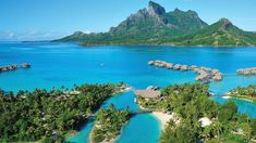 Four Seasons Resort Bora Bora, French Polynesia. © Four Seasons Hotels Limited Bora Bora Resorts, Tahiti Vacations, Dream Vacations, Vacation Deals, Vacation Resorts, Vacation Destinations, Hotels And Resorts, Vacation Spots, Luxury Hotels