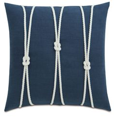 Yacht Knots Linen Throw Pillow