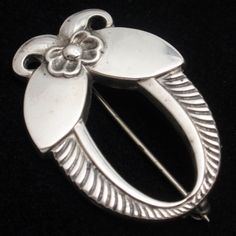 Georg Jensen Brooch Pin Sterling Silver Denmark Vintage