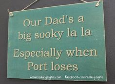 Sooky-Dad-Port-Adelaide-Footy-Aussie-Rules-Sign-Bar-Shed-Man-Cave-Power-Wooden