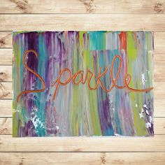 """SMALL WALL ART, Canvas Art, paintings, home decor, Modern Art, Interior Wall Decor, Wall Hangings, 9""""x12"""", Palette Knife,  by Katey"""