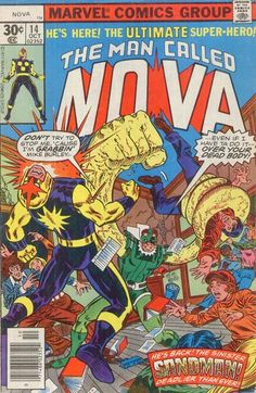 Continued from last issue... In order to get Samuel Burley to assist them in their plans, Yellowclaw's agent Karl von Horstbaden sends Sandman to capture Burley's brother Mike (Richard Rider's classmate and high school antagonist.) as they have succeeded in capturing T'Kora and have Nova neutralized in a specialized holding cell. Meanwhile, Richard's father Charles tries to get a loan to get through the family money problems while he is unemployed but is refused. He is giv...
