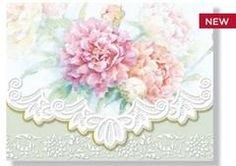 Carol Wilson Mixed Peonies Note Card Portfolio - Stationery - Roses And Teacups…