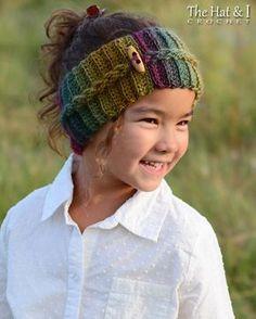 CROCHET PATTERN - Autumn Breeze Headwrap - schema uncinetto fascia in 5 taglie (infante, bambino, infante, bambino, adulto) - Instant PDF Download