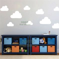 Cartoon Cloud Wall Sticker, DIY Children Room Decoration Nusery Wall Sticker,  wall art decor, free shipping DQ11199-in Wall Stickers from Home & Garden on Aliexpress.com | Alibaba Group