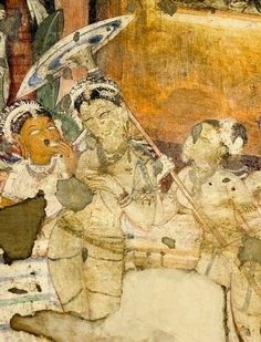 Ajanta frescoes paintings 2nd century B.C to 6th Century A.D