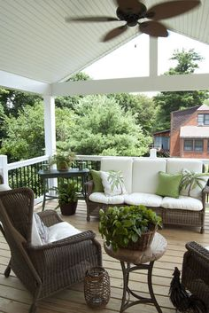 I love the roof over the deck, with a ceiling fan! An open air room!!