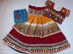 Navratri chaniya choli Designer Indian Yellow and by mfussion