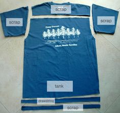 T-Shirt to Tank: A Tutorial by Jen from Upcycled Education - crafterhours