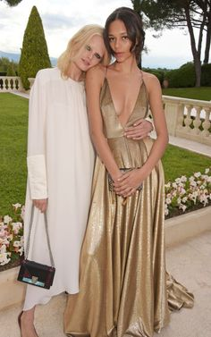 Hanne Gaby Odiele and Binx Walton. See what all the stars wore at the Cannes amfAR gala.