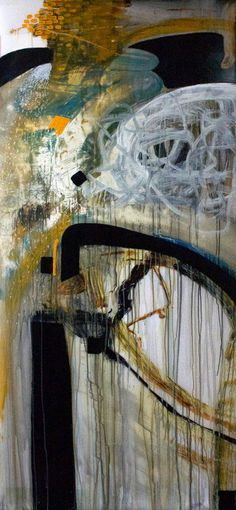 "Lance Olsen, Study for ""Plato's Cave #2"" february 20th 2014 acrylic on translucent mylar. 36"" X 80"""