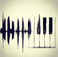 This is such a simple, yet beautiful piano key art piece. It would be stunning hung in a small rimmed frame   via ESTADO D'ALMA on Tumblr #music #art
