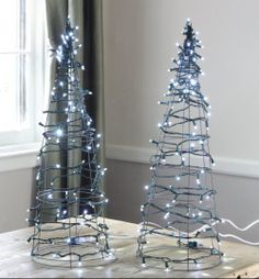 DIY: Tomato Cage Christmas Tree Lights | 17 Apart: DIY: Tomato Cage Christmas Tree Lights