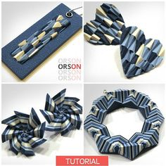Orson's Originals Polygons in polymer clay part I Tutorial Ebook DIY Instructions - in English ONLY