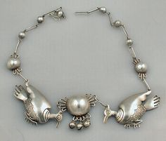 Early Spratling Necklace  Silver