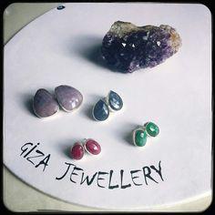Sapphire , emerald , ruby earring safir yakut ve zümrüt küpe