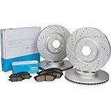 [Front & Rear Kit] GT//Rotors High Performance Brake Disc Rotors & Ceramic Pads for Nissan Altima Sedan 2007 - 2012 Coupe up to 2013