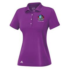 71d9f7a6dc1c Pro Football Hall of Fame Adidas® Puremotion Solid Purple Women s Polo.  Click to order! -  59.99
