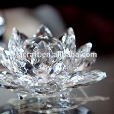 Indian Wedding Favors Wholesale China Crystal Glass Lotus Flower Paperweight