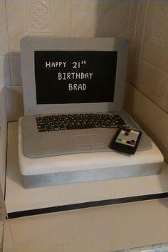 laptop computer cake