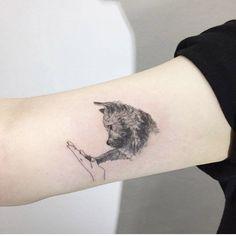 Adorable Dog Tattoo by Hongdam Adorable Dog Tattoo by Hongdam tattoo ,tattoo quotes ,tattoo fonts ,w Trendy Tattoos, Small Tattoos, Tattoos For Women, Neue Tattoos, Body Art Tattoos, Wrist Tattoos, Tatuajes Tattoos, Tatoos, Piercing Tattoo