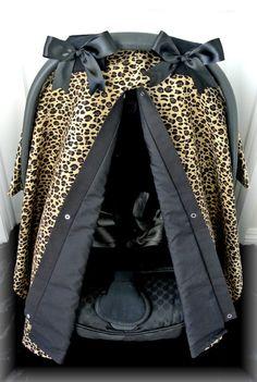 CHEETAH car seat canopy car seat cover leopard by JaydenandOlivia