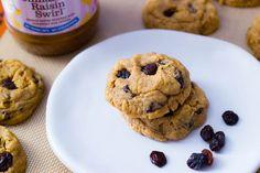 Cinnamon Raisin Peanut Butter Oatmeal Cookies from @Sally [Sally's Baking Addiction]! #tasteamazing