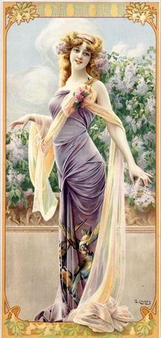 Art Nouveau poster by Gaspar Camps
