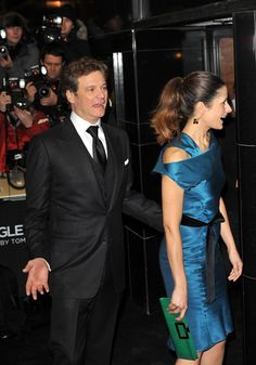 Colin Firth and Livia at the UK premiere of A Single Man