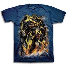 Transformers Bumble Bee Men's Short Sleeve T-shirt, Size: Large, Blue