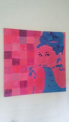 Acrylmaleri Portræt