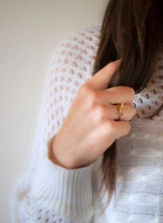 Oh the lovely things: DIY Twine Bow Ring & Knot Ring